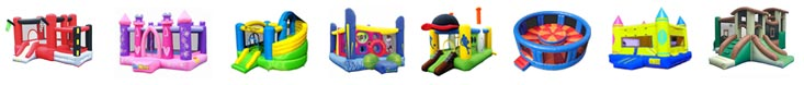 There are many different styles of bounce house, choose your own style of bounce house.